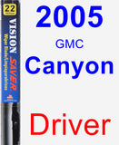 Driver Wiper Blade for 2005 GMC Canyon - Vision Saver