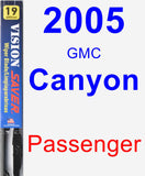 Passenger Wiper Blade for 2005 GMC Canyon - Vision Saver