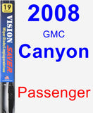 Passenger Wiper Blade for 2008 GMC Canyon - Vision Saver