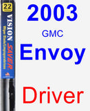 Driver Wiper Blade for 2003 GMC Envoy - Vision Saver