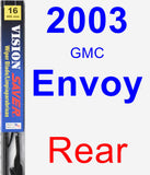 Rear Wiper Blade for 2003 GMC Envoy - Vision Saver
