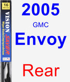Rear Wiper Blade for 2005 GMC Envoy - Vision Saver