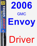 Driver Wiper Blade for 2006 GMC Envoy - Vision Saver