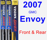 Front & Rear Wiper Blade Pack for 2007 GMC Envoy - Vision Saver