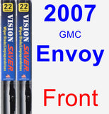 Front Wiper Blade Pack for 2007 GMC Envoy - Vision Saver