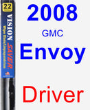 Driver Wiper Blade for 2008 GMC Envoy - Vision Saver