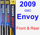 Front & Rear Wiper Blade Pack for 2009 GMC Envoy - Vision Saver