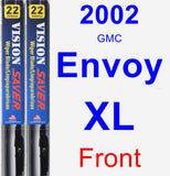 Front Wiper Blade Pack for 2002 GMC Envoy XL - Vision Saver