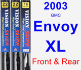 Front & Rear Wiper Blade Pack for 2003 GMC Envoy XL - Vision Saver