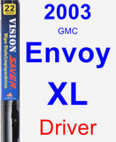 Driver Wiper Blade for 2003 GMC Envoy XL - Vision Saver