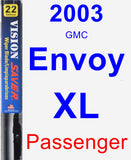 Passenger Wiper Blade for 2003 GMC Envoy XL - Vision Saver