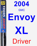 Driver Wiper Blade for 2004 GMC Envoy XL - Vision Saver