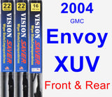 Front & Rear Wiper Blade Pack for 2004 GMC Envoy XUV - Vision Saver