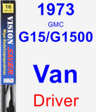 Driver Wiper Blade for 1973 GMC G15/G1500 Van - Vision Saver