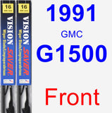 Front Wiper Blade Pack for 1991 GMC G1500 - Vision Saver