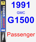 Passenger Wiper Blade for 1991 GMC G1500 - Vision Saver