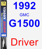 Driver Wiper Blade for 1992 GMC G1500 - Vision Saver