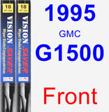 Front Wiper Blade Pack for 1995 GMC G1500 - Vision Saver
