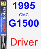 Driver Wiper Blade for 1995 GMC G1500 - Vision Saver