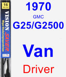 Driver Wiper Blade for 1970 GMC G25/G2500 Van - Vision Saver