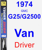 Driver Wiper Blade for 1974 GMC G25/G2500 Van - Vision Saver