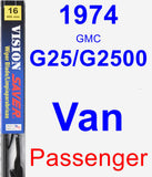 Passenger Wiper Blade for 1974 GMC G25/G2500 Van - Vision Saver