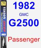 Passenger Wiper Blade for 1982 GMC G2500 - Vision Saver