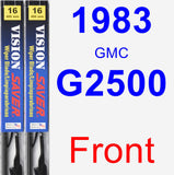 Front Wiper Blade Pack for 1983 GMC G2500 - Vision Saver