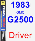 Driver Wiper Blade for 1983 GMC G2500 - Vision Saver