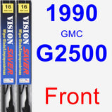 Front Wiper Blade Pack for 1990 GMC G2500 - Vision Saver