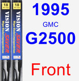 Front Wiper Blade Pack for 1995 GMC G2500 - Vision Saver