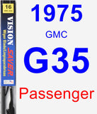 Passenger Wiper Blade for 1975 GMC G35 - Vision Saver