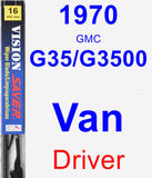 Driver Wiper Blade for 1970 GMC G35/G3500 Van - Vision Saver