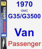 Passenger Wiper Blade for 1970 GMC G35/G3500 Van - Vision Saver