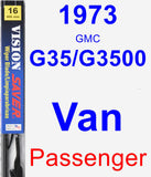 Passenger Wiper Blade for 1973 GMC G35/G3500 Van - Vision Saver