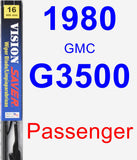 Passenger Wiper Blade for 1980 GMC G3500 - Vision Saver