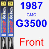 Front Wiper Blade Pack for 1987 GMC G3500 - Vision Saver