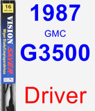 Driver Wiper Blade for 1987 GMC G3500 - Vision Saver