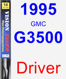 Driver Wiper Blade for 1995 GMC G3500 - Vision Saver