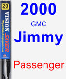 Passenger Wiper Blade for 2000 GMC Jimmy - Vision Saver