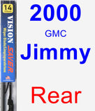 Rear Wiper Blade for 2000 GMC Jimmy - Vision Saver