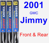 Front & Rear Wiper Blade Pack for 2001 GMC Jimmy - Vision Saver