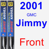 Front Wiper Blade Pack for 2001 GMC Jimmy - Vision Saver