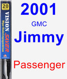 Passenger Wiper Blade for 2001 GMC Jimmy - Vision Saver