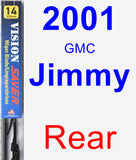 Rear Wiper Blade for 2001 GMC Jimmy - Vision Saver