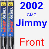 Front Wiper Blade Pack for 2002 GMC Jimmy - Vision Saver