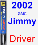 Driver Wiper Blade for 2002 GMC Jimmy - Vision Saver