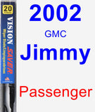 Passenger Wiper Blade for 2002 GMC Jimmy - Vision Saver