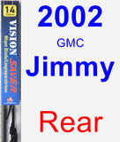 Rear Wiper Blade for 2002 GMC Jimmy - Vision Saver