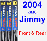 Front & Rear Wiper Blade Pack for 2004 GMC Jimmy - Vision Saver